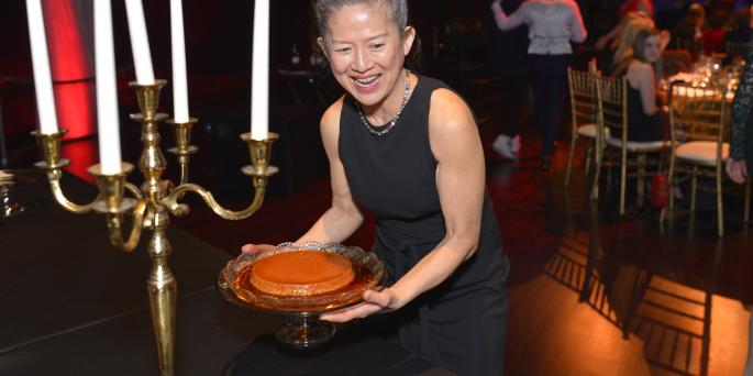 Lily with Flan