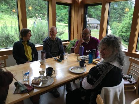 Ehn on retreat at the Whidbey Institute in June 2018 // Photo by Elizabeth Duffell