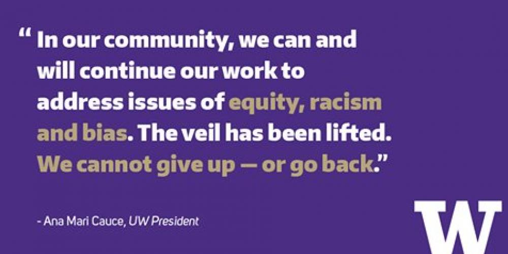 A Message from UW President Ana Marie Cauce