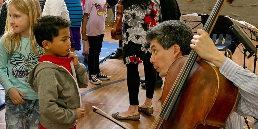 Daedalus Quartet Visits Lowell Elementary