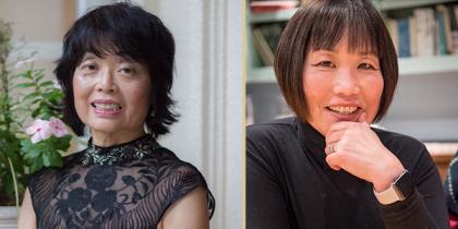 Yumi Iwasaki and Cathy Hughes