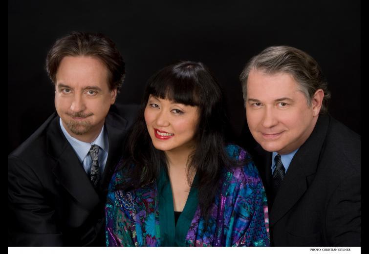 David Finckel & Wu Han with Philip Setzer. Photo: Christian Steiner